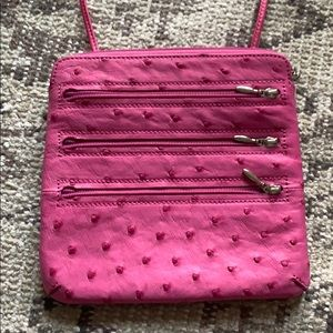 Handbags - Hot pink ostrich leather cross body or belt bag